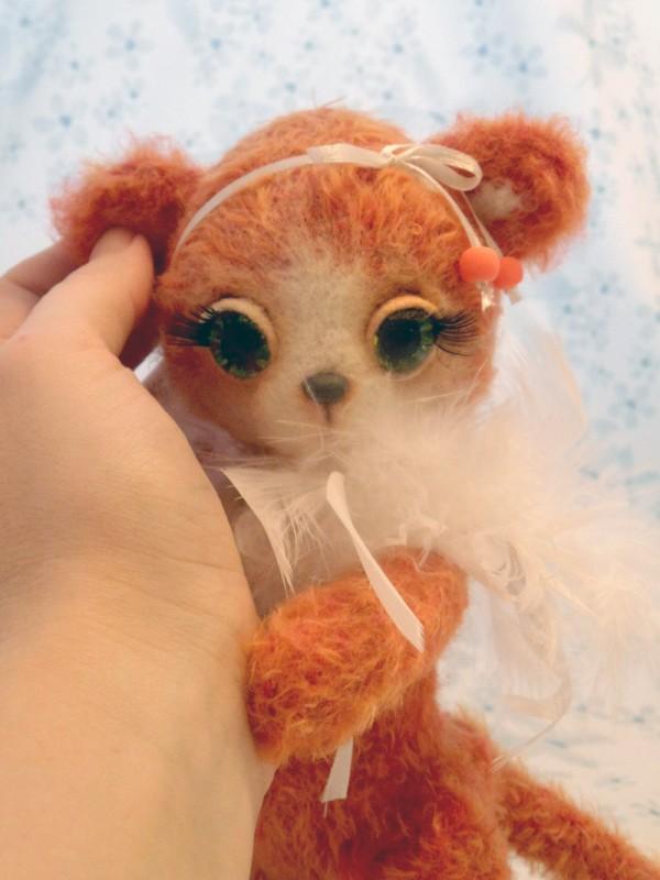 Ангел Рождества, вязаная лисичка
