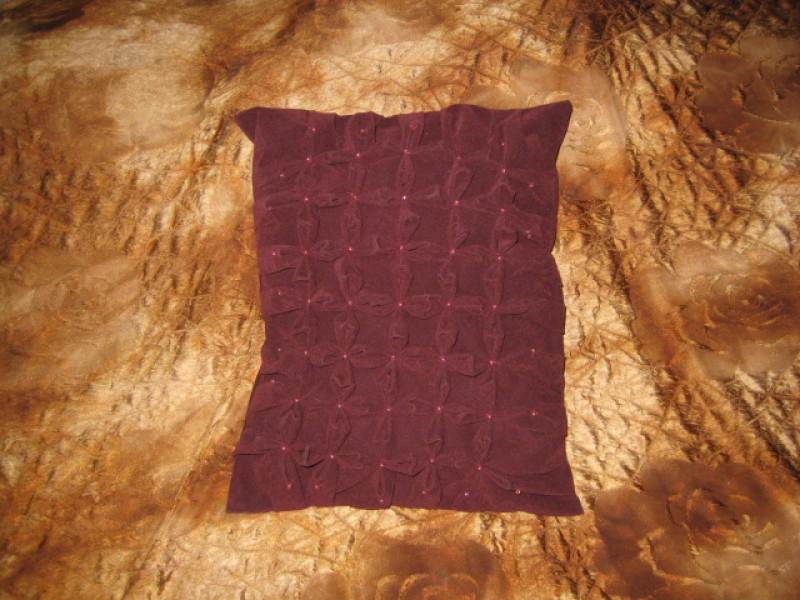 подушка декоративная с буфами-ручная работа