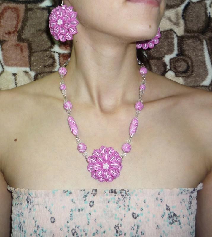 Комплект Розовые цветы
