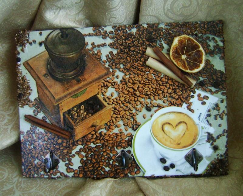 Вешалка для полотенец и   прихваток Аромат кофе