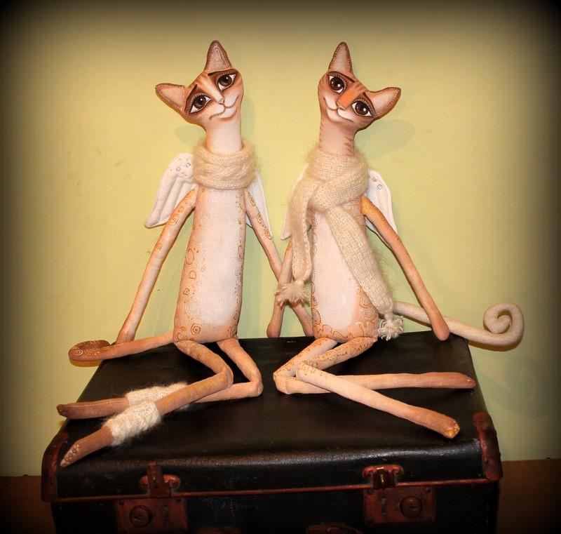 Авторские игрушки Зимние ангелы