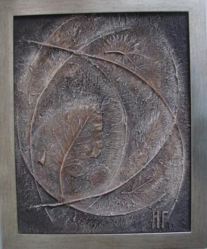 Коллаж в технике терра Листья