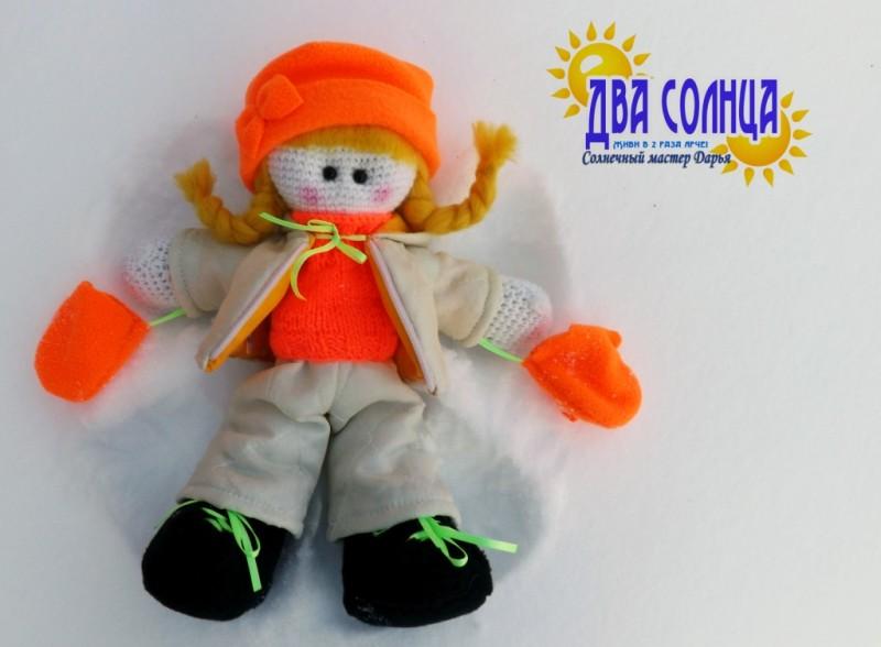 Интерьерная кукла. Любительница зимних прогулок.