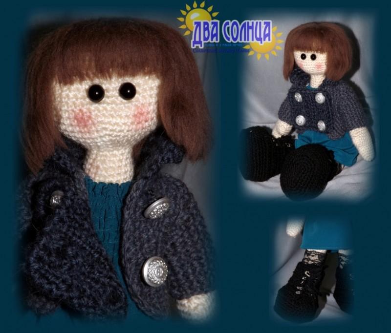 Интерьерная кукла. Любительница стиля миллитари.