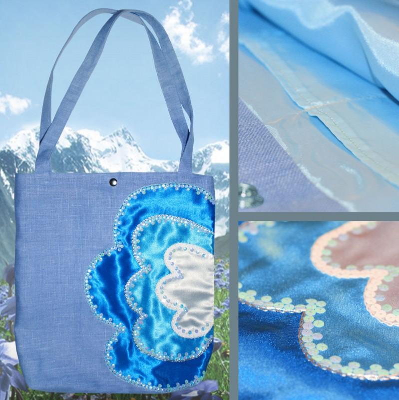 Сумка Синие цветы
