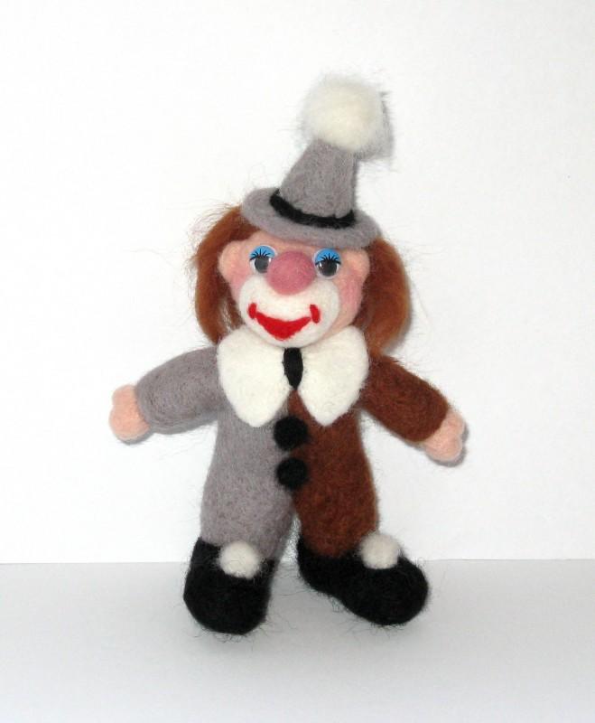 Клоун. Валяная авторская игрушка.ПРОДАН