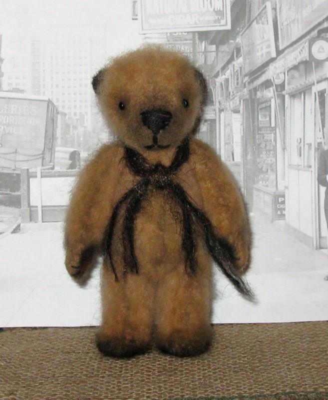 Мишка тедди Филя. Валяная авторская игрушка.