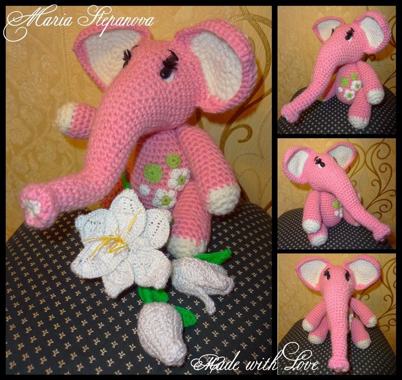 Весенний розовый слон