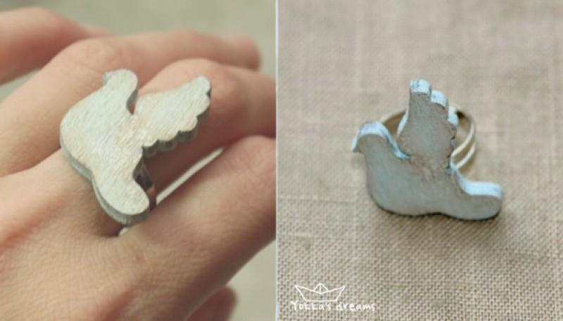 кольцо Голубь для примера