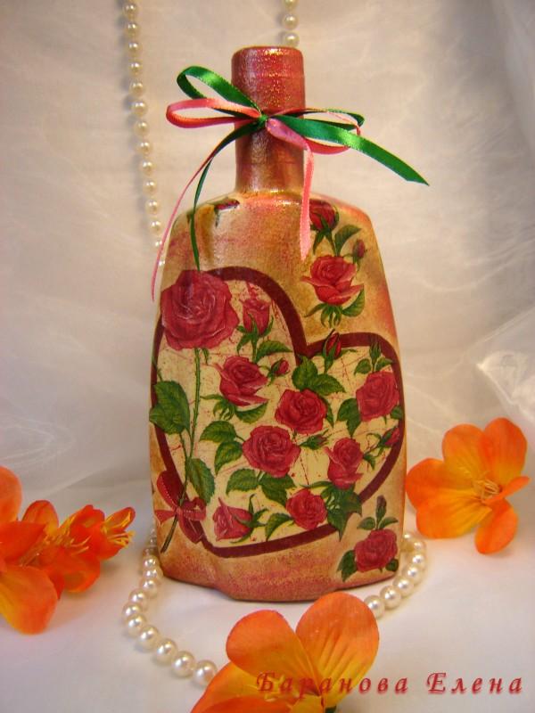 Декорированная бутылка  С любовью...