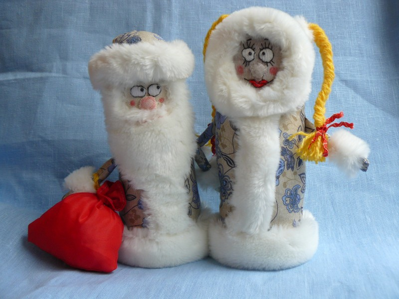 Новогодняя пара Дед Мороз и Снегурочка