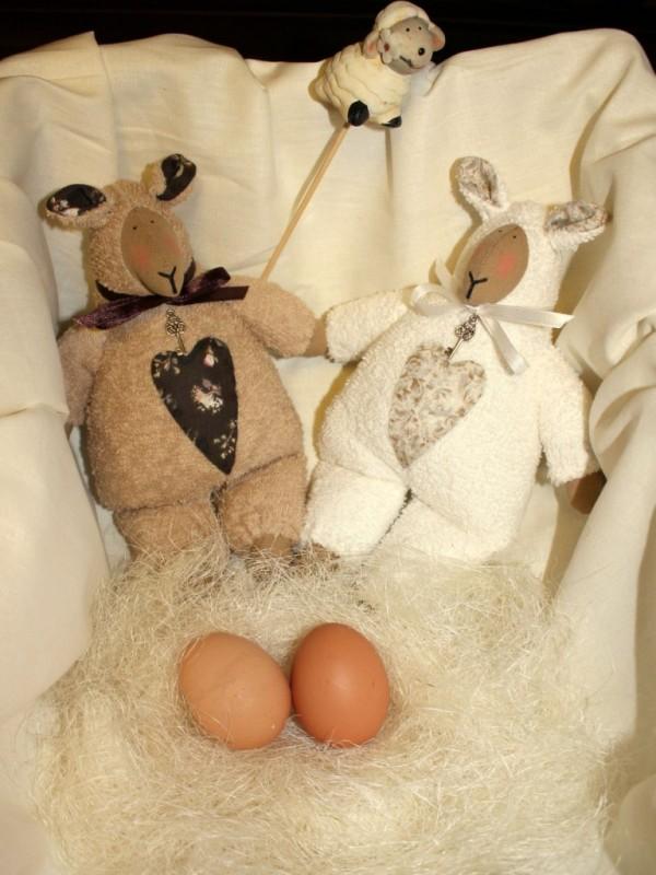 Кукла тильда Пасхальные овечки