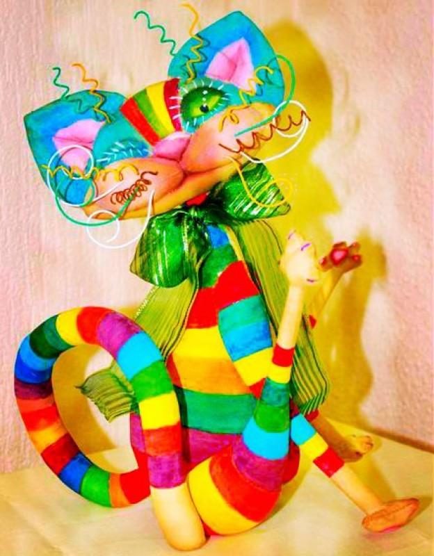 авторская игрушка Радужный Кот