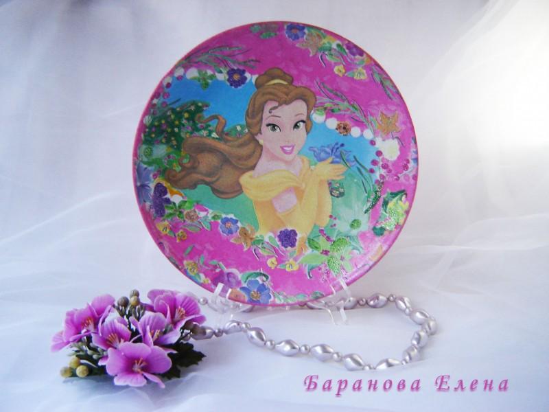 Декоративная тарелка Диснеевские сказки Белль