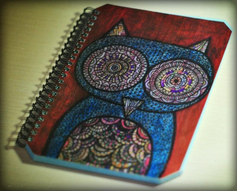 Авторский блокнот Сова (notebook)