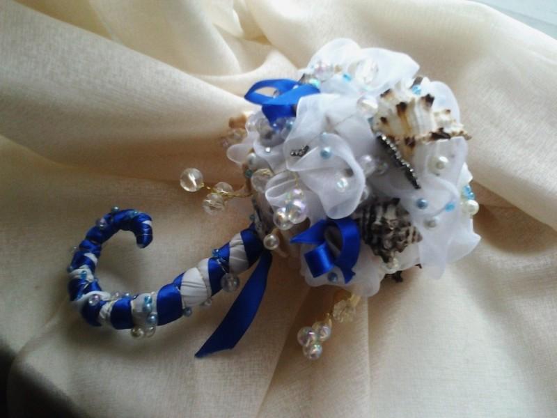 Букет невесты Морской бриздля свадьбы в морском стиле.