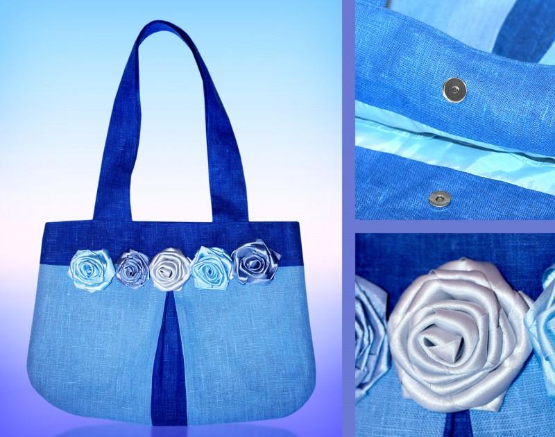 Сумка Голубые розы