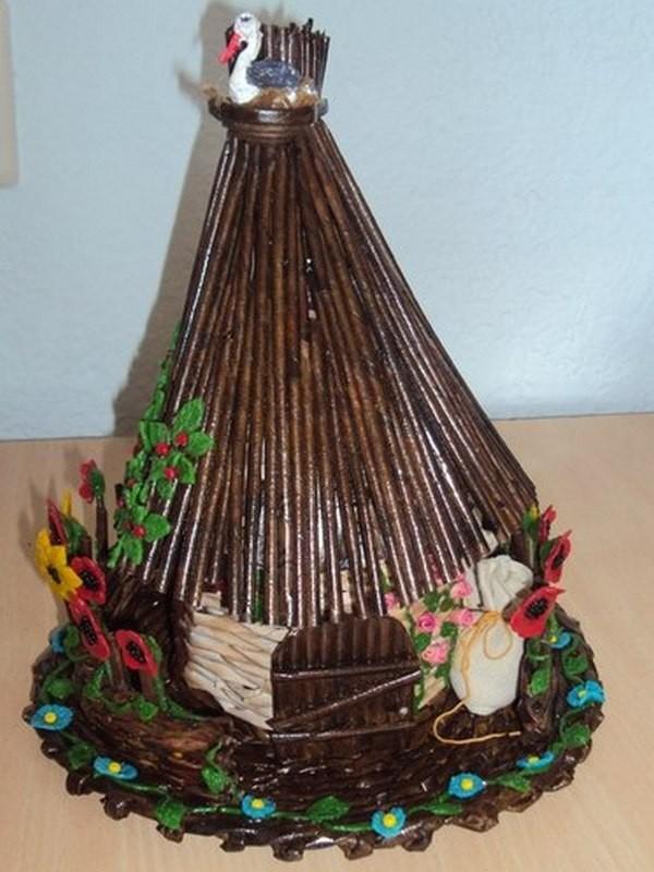 Сувенир-шкатулка Украинская изба