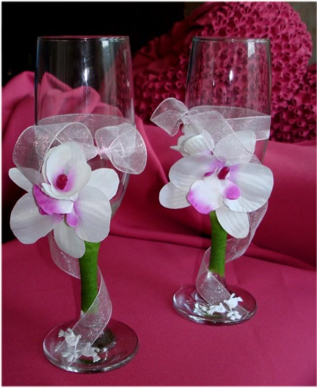 Свадебные бокалы Орхидея