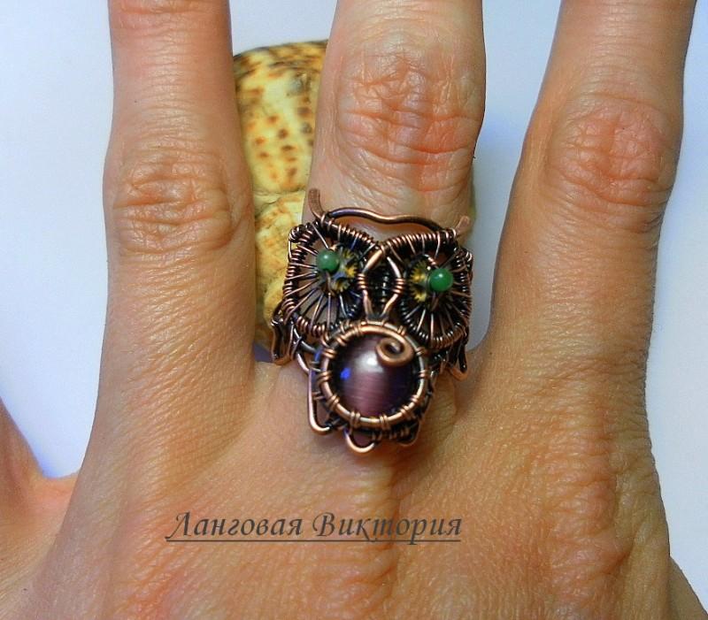 Перстень Кружевная сова.