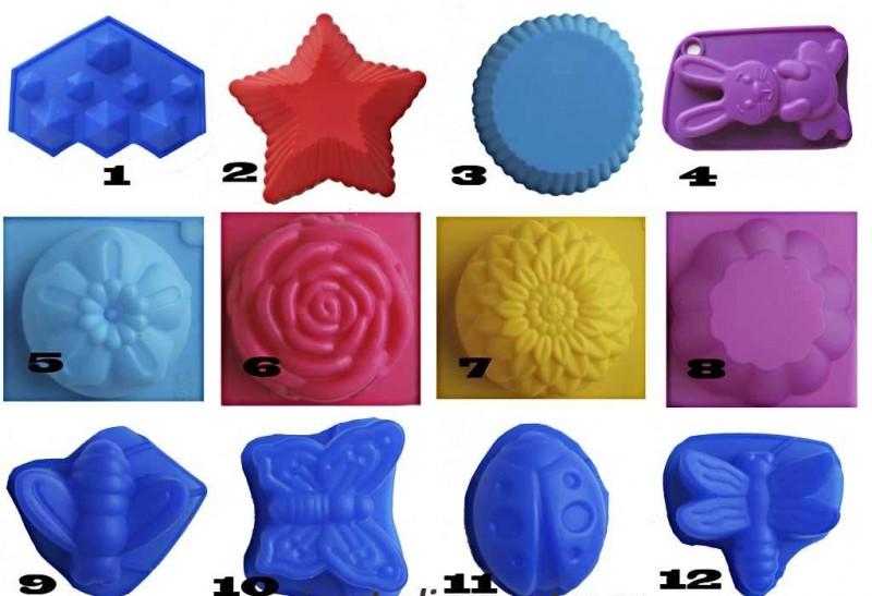 Силиконовые формы для мыла ручной работы.