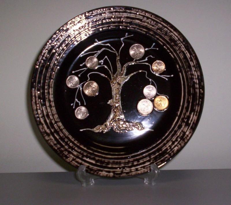 Декоративная тарелка-талисман Денежное дерево