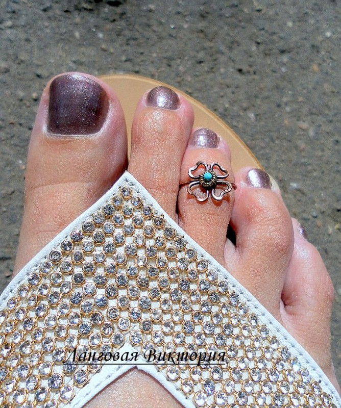 Кольцо на палец ноги Клевер.