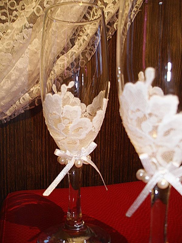 Свадебные бокалы Кружева