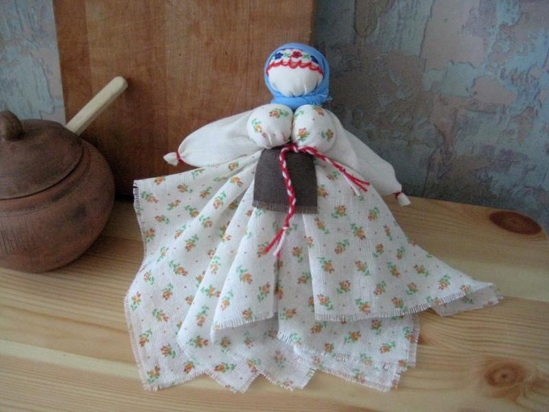 Тряпичная кукла Капустка