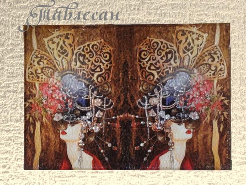 Обложка для паспорта Женщина-мечта с росписью