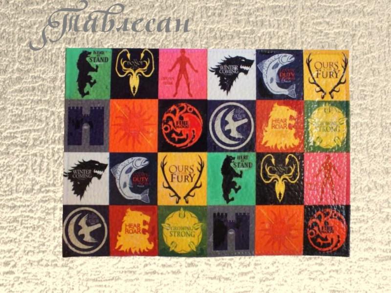 Обложка для паспорта Гербы 7 королевств Престолы