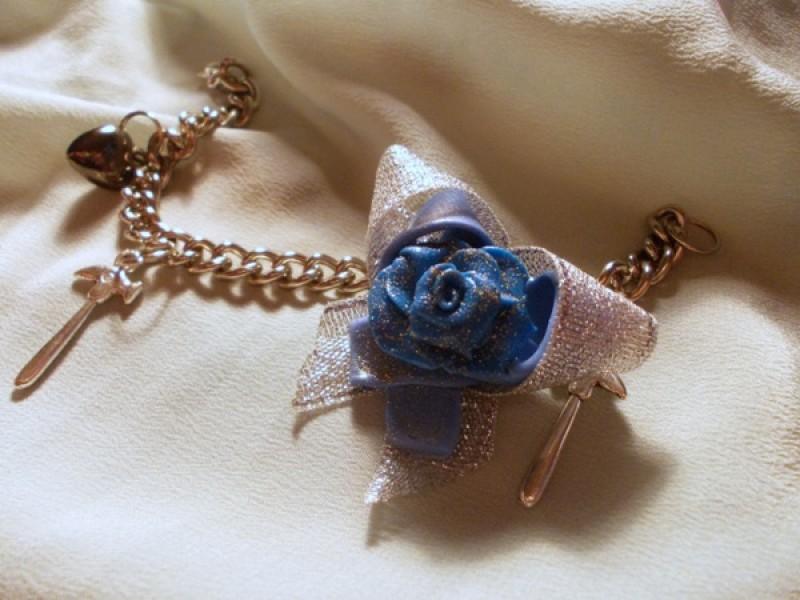 Браслет Серебристая роза