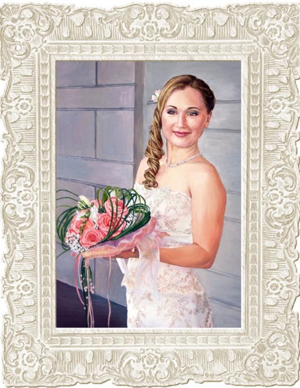 Портрет по фото свадебный