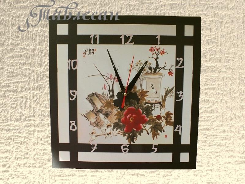 Настенные часы Бонсай в японском саду