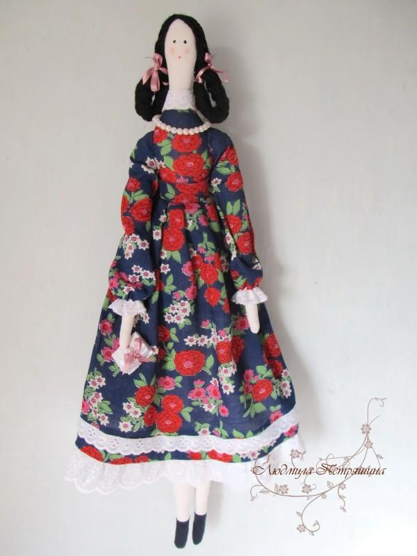 Текстильная  интерьерная кукла тильда - Татьяна