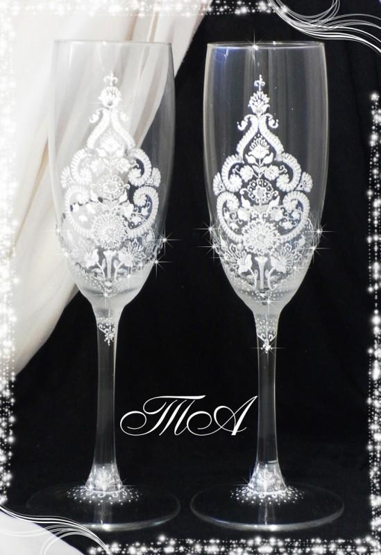 Свадебные бокалы Зимний восток