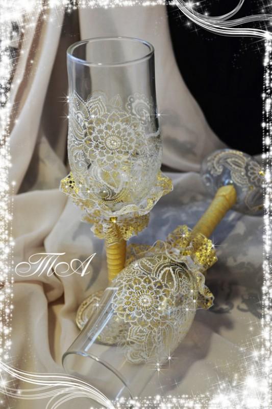 Свадебные бокалы Золото Востока