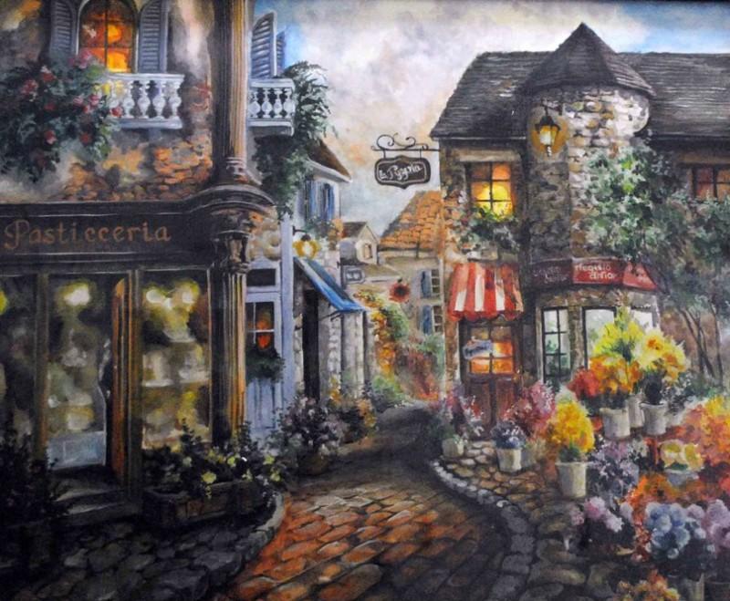 Картина Улочка в Париже