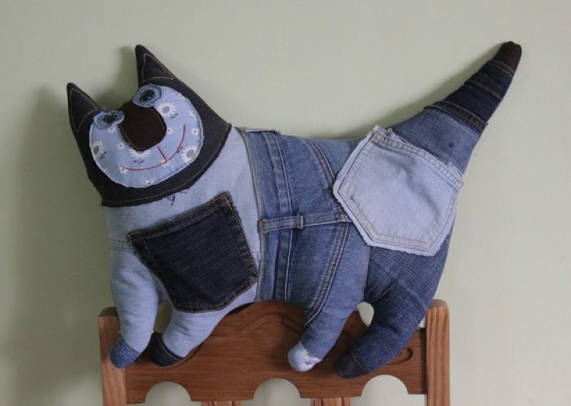 Декоративная подушка Джинсовый Кот