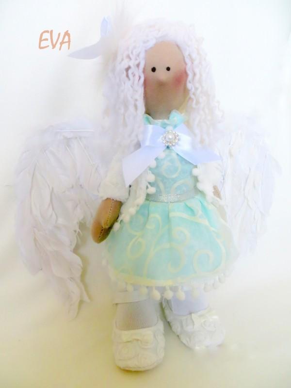 Текстильная кукла. Ангел EVA