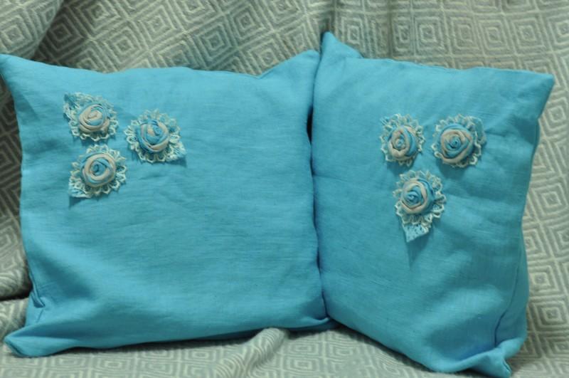 Декоративные подушки из 100% льна