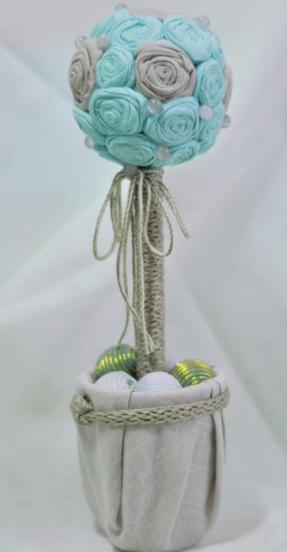 Топиарий Голубая лагуна из льна продан