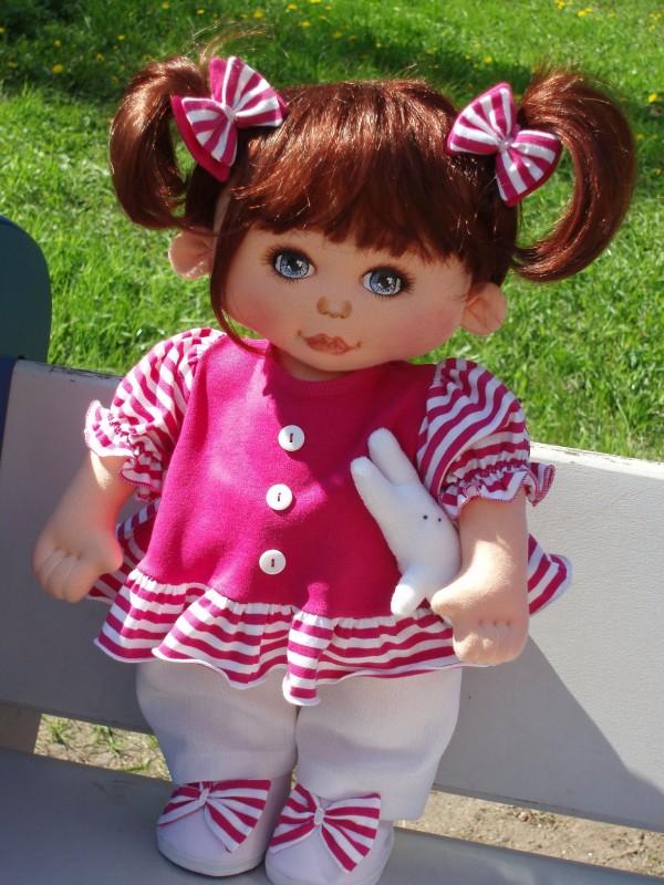 Текстильная кукла Лидия.