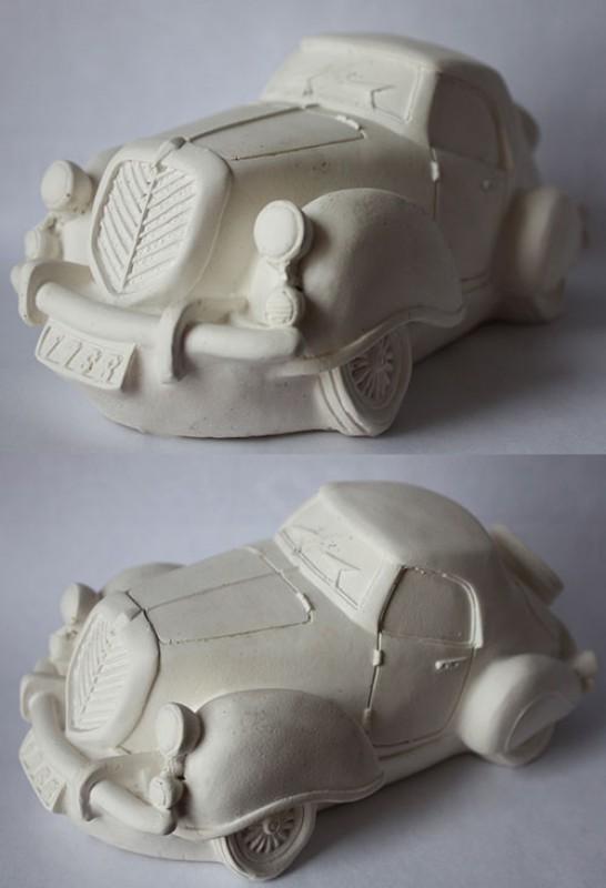 Гипсовая раскраска Машина-ретро