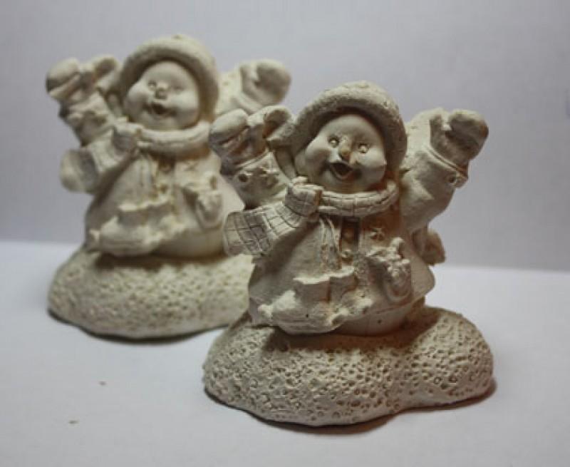 Гипсовая раскраска Снеговик
