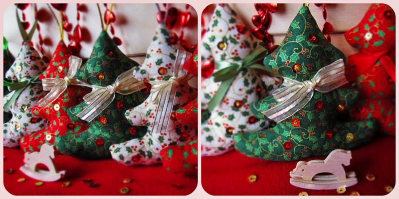 Новогоднее украшение текстильная елочка