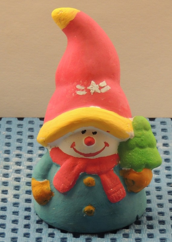 Гипсовая фигурка - раскраска Снеговик