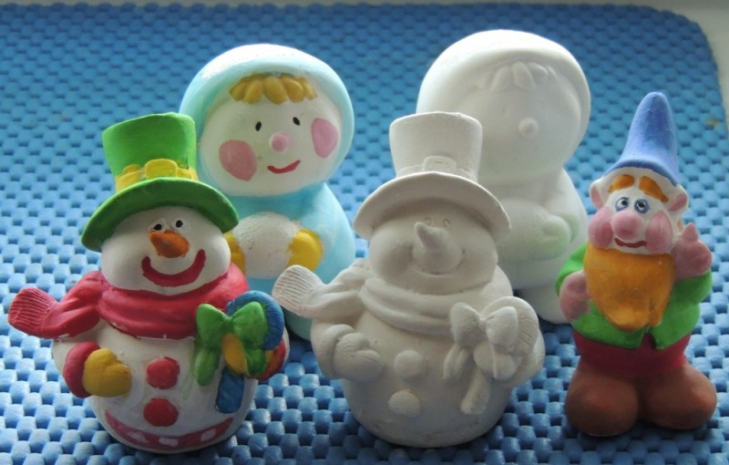 Гипсовая фигурка - раскраска Снеговик 1