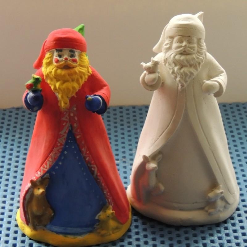 Гипсовая фигурка - раскраска Дед Мороз большой
