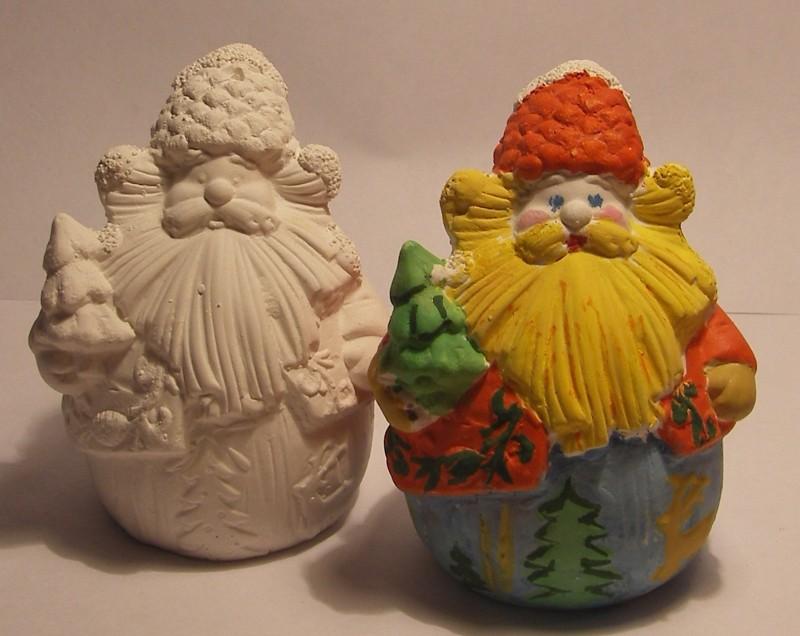 Гипсовая фигурка - раскраска Дед мороз 1